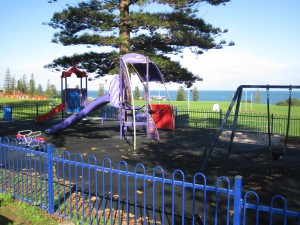 Small group personal training in cottesloe with a playground.